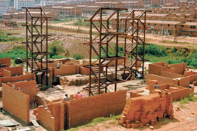 Mutirão União da Juta em construção. Foto USINA