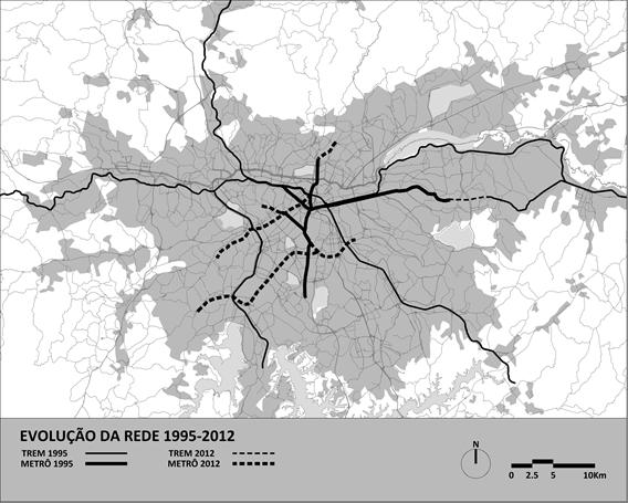 evolucao rede metro